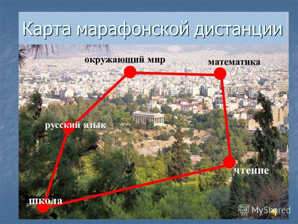 Карта марафонской дистанции школа русский язык окружающий мир математика чтение