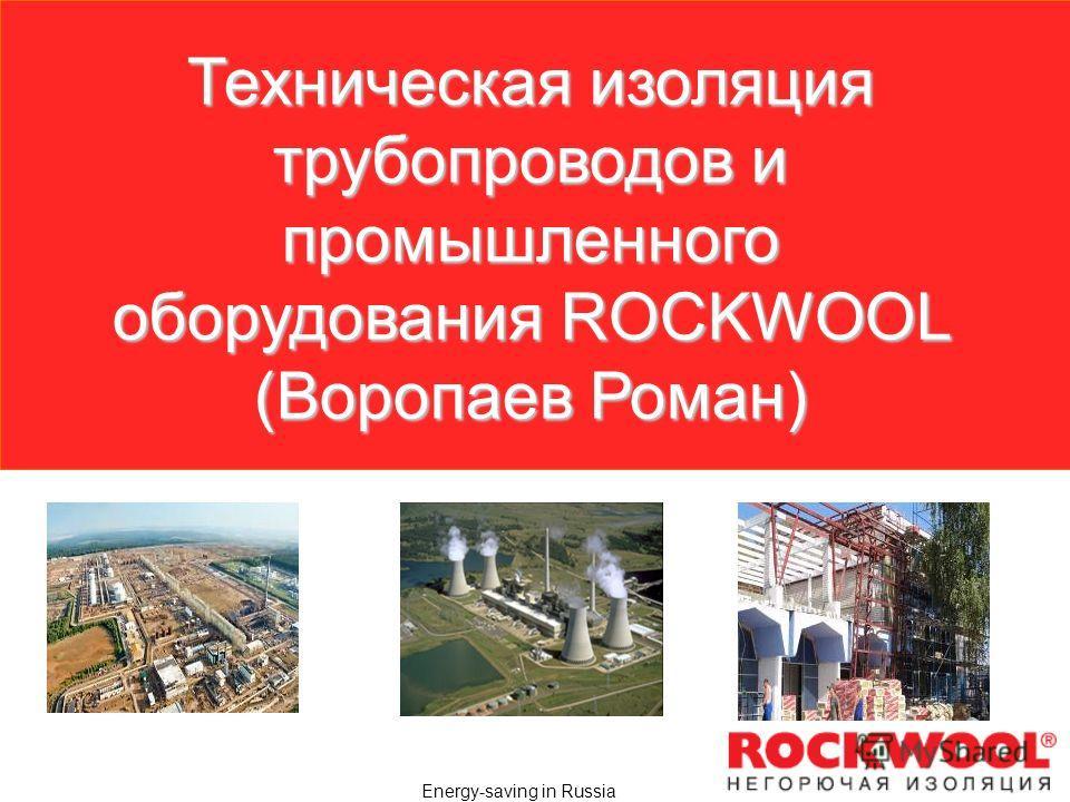 Energy-saving in Russia Техническая изоляция трубопроводов и промышленного оборудования ROCKWOOL (Воропаев Роман)
