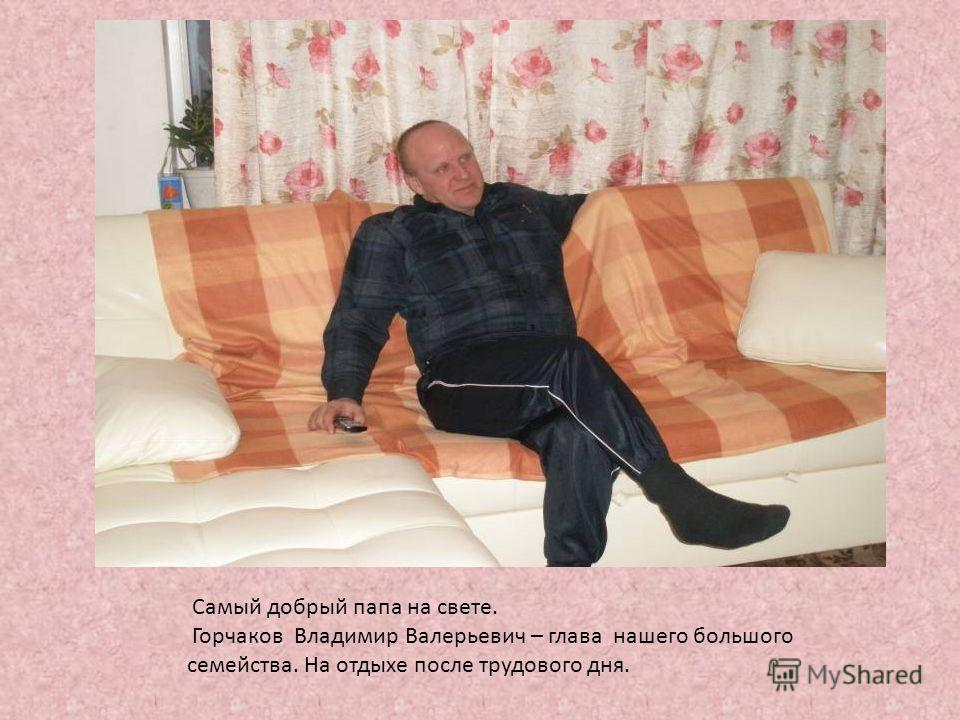 Самый добрый папа на свете. Горчаков Владимир Валерьевич – глава нашего большого семейства. На отдыхе после трудового дня.