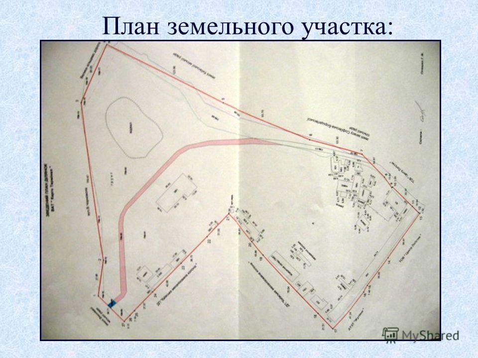 План земельного участка: