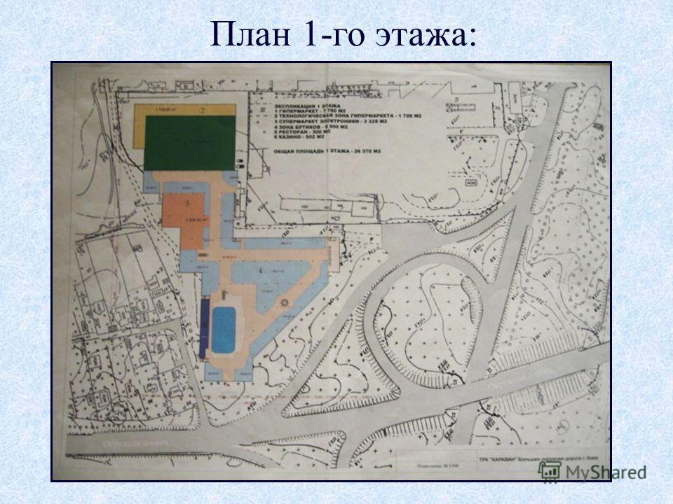 План 1-го этажа: