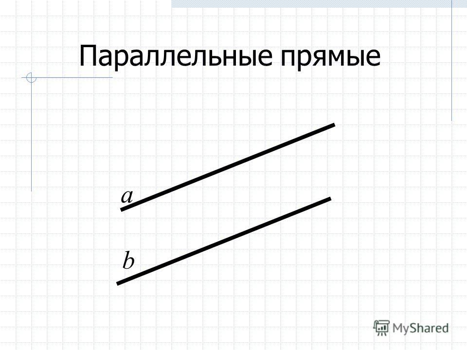 Параллельные прямые а b