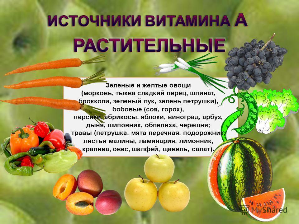 Витамин А способствует нормальному обмену веществ, играет важную роль в формировании костей и зубов, а также жировых отложений, необходим для роста новых клеток, замедляет процесс старения. Издавна известно благотворное влияние витамина А на зрение.