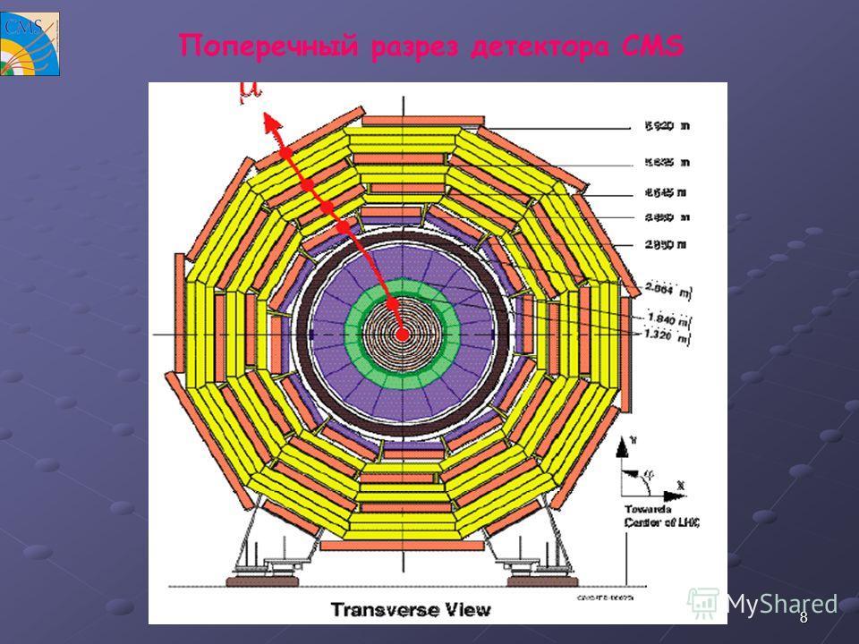 8 Поперечный разрез детектора CMS