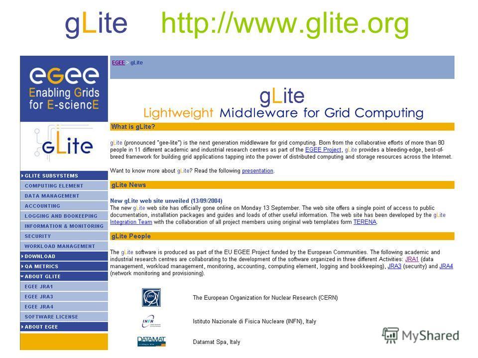 gLite http://www.glite.org