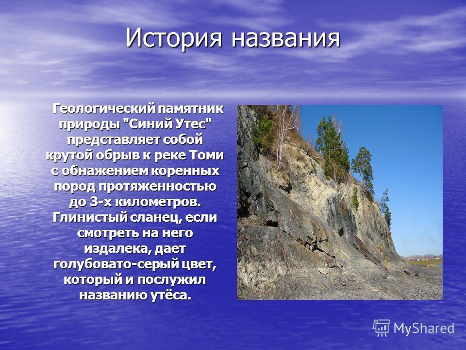 История названия Геологический памятник природы