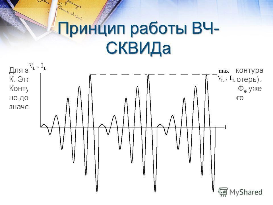 Для этого процесса потребуется энергия. Она будет забрана из контура К. Это эквивалентно внесению в контур К доп. сопротивления (потерь). Контур выходит из резонанса, ток I L в нем резко уменьшается (и Ф е уже не достигает Ф ес ). И снова копится эне