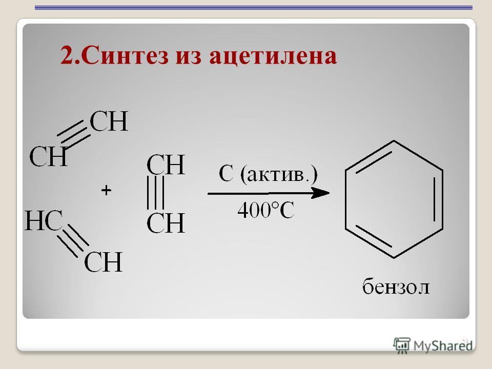 23 2.Синтез из ацетилена