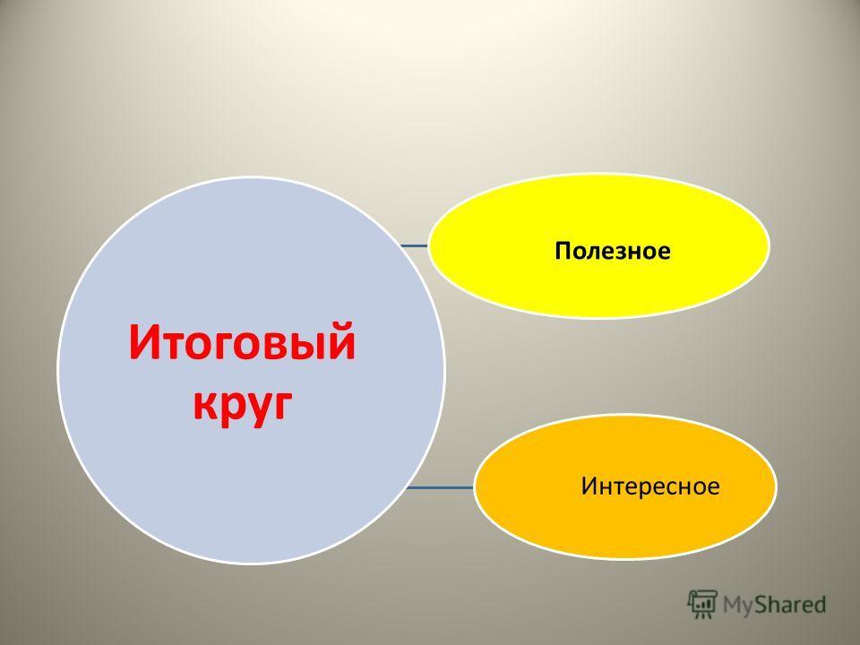 Итоговый круг Полезное Интересное