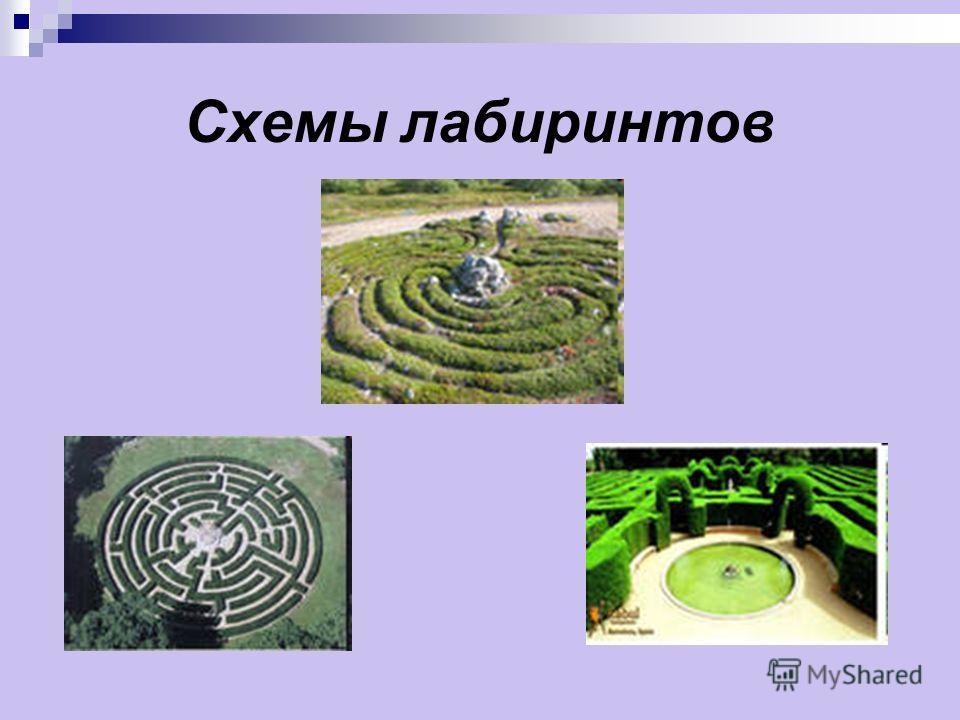 Схемы лабиринтов