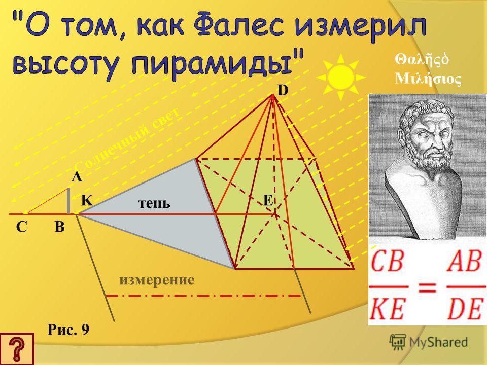 Древняя Греция Милет Деньги Мужской костюм Древний Египет Измерил высоту пирамиды, не влезая на неё. Жил 640-548 г.г.до н.э
