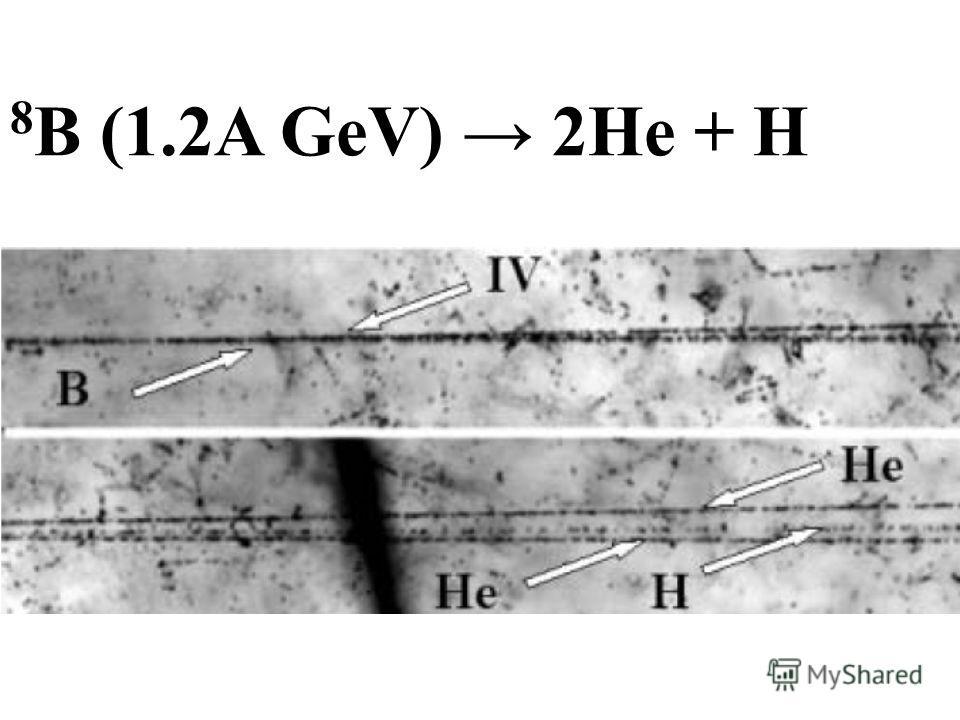 8 В (1.2A GeV) 2Не + Н