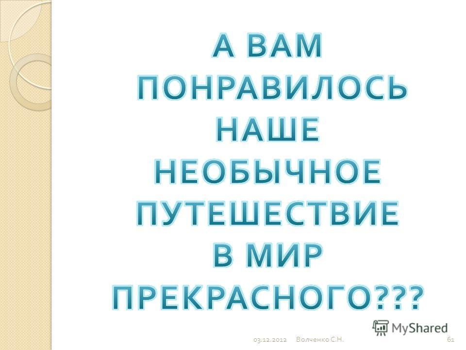 03.12.201260 Волченко С. Н.