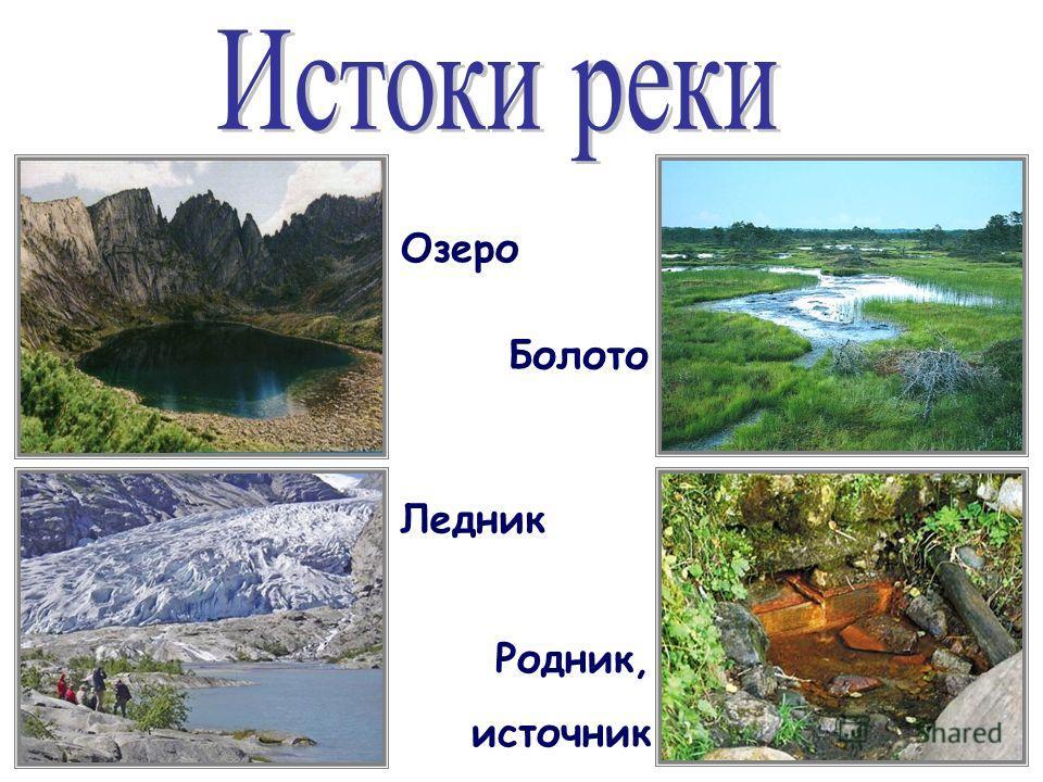 Озеро болото ледник родник источник