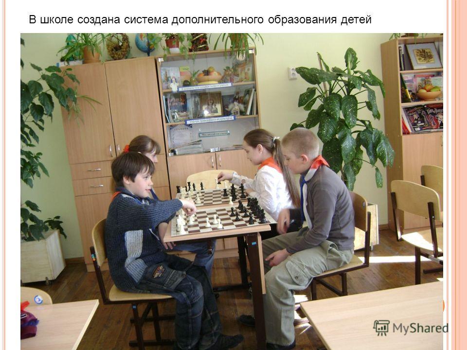 В школе создана система дополнительного образования детей