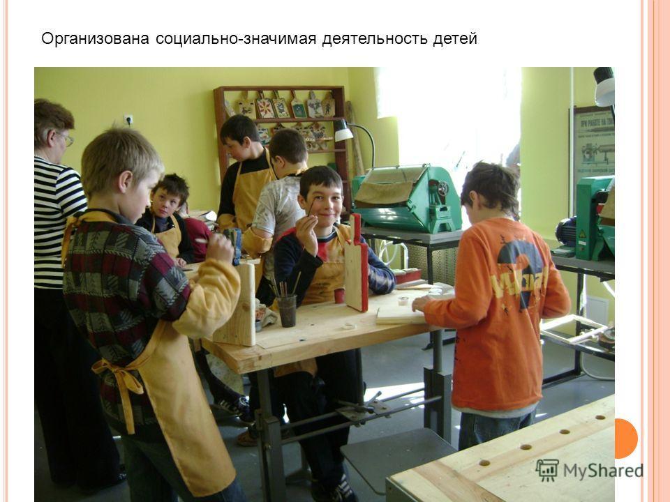 Организована социально-значимая деятельность детей