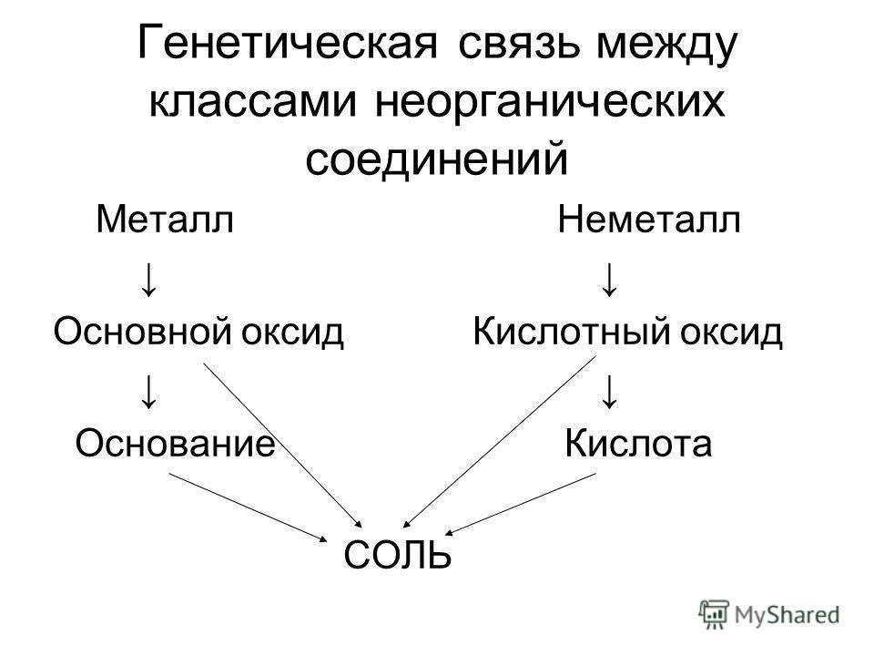 Генетическая связь между