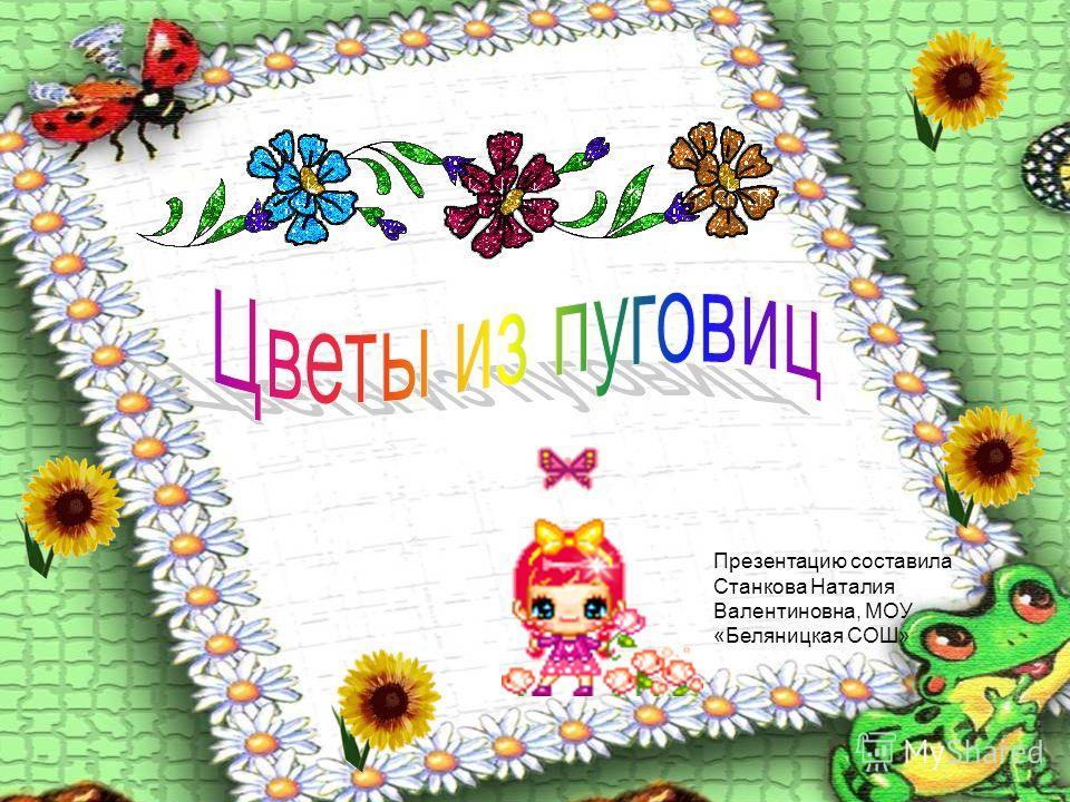 Презентацию составила Станкова Наталия Валентиновна, МОУ «Беляницкая СОШ»