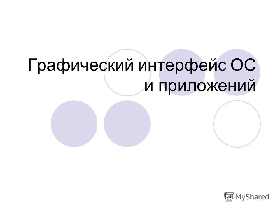 Графический интерфейс ОС и приложений