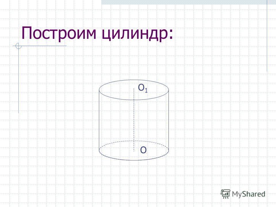 Построим цилиндр: О О1О1