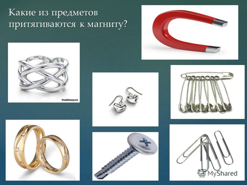Какие из предметов притягиваются к магниту?