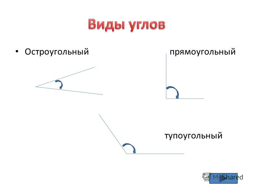 Остроугольный прямоугольный тупоугольный
