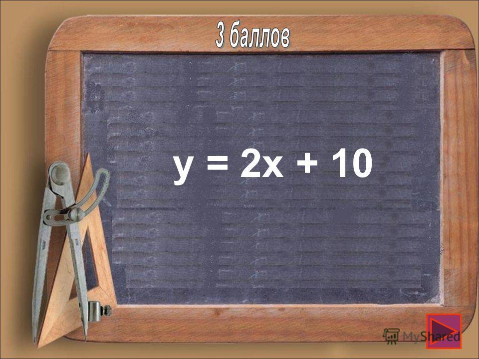 Задайте формулой линейную функцию, график которой проходит через т. (0; 10) и параллелен графику функции у = 2х+7.