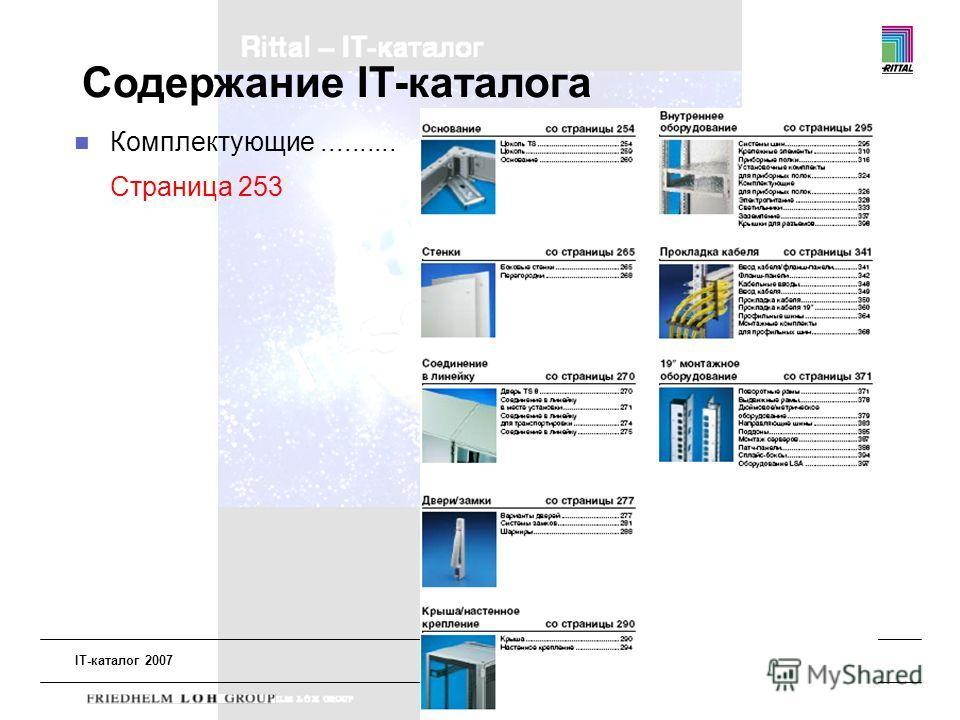 IT-каталог 2007 Академия Риттал2008 Содержание IT-каталога Комплектующие.......... Страница 253
