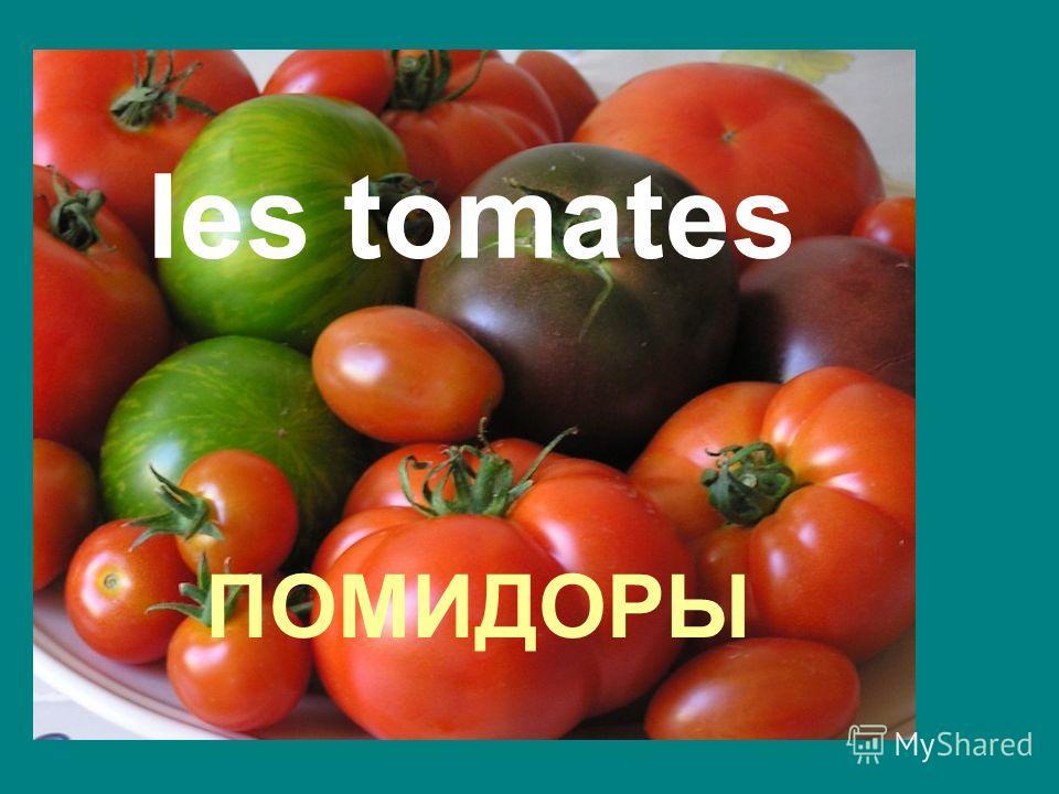 ПОМИДОРЫ les tomates