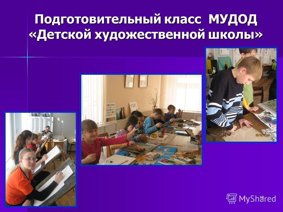 10 Подготовительный класс МУДОД «Детской художественной школы»