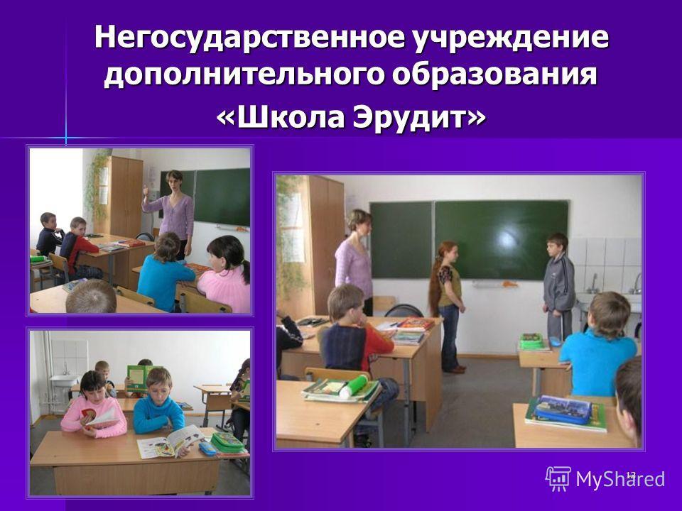 13 Негосударственное учреждение дополнительного образования «Школа Эрудит»