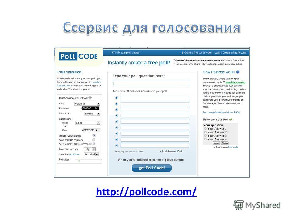 http://pollcode.com/