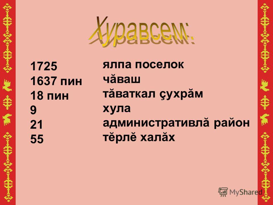 1725 1637 пин 18 пин 9 21 55 ялпа поселок чăваш тăваткал çухрăм хула административлă район тĕрлĕ халăх