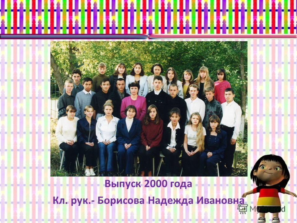 Выпуск 2000 года Кл. рук.- Борисова Надежда Ивановна