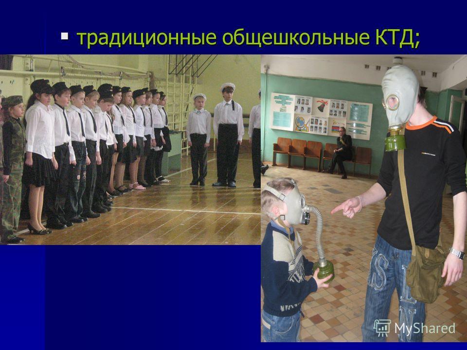 традиционные общешкольные КТД; традиционные общешкольные КТД;