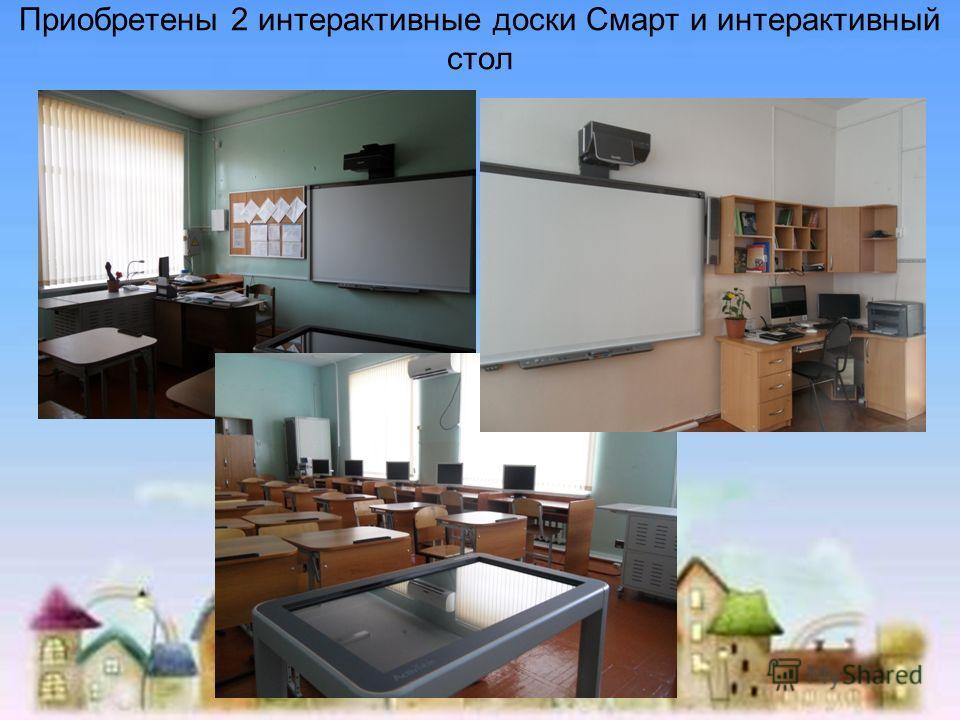Приобретены 2 интерактивные доски Смарт и интерактивный стол ст. Каневская