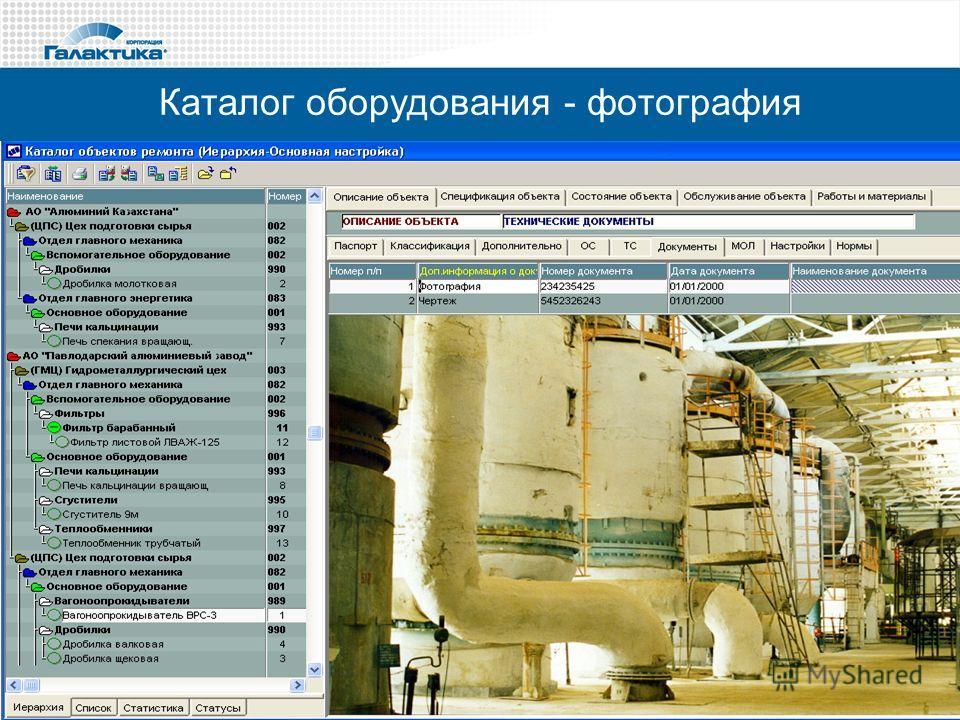 Каталог оборудования - фотография