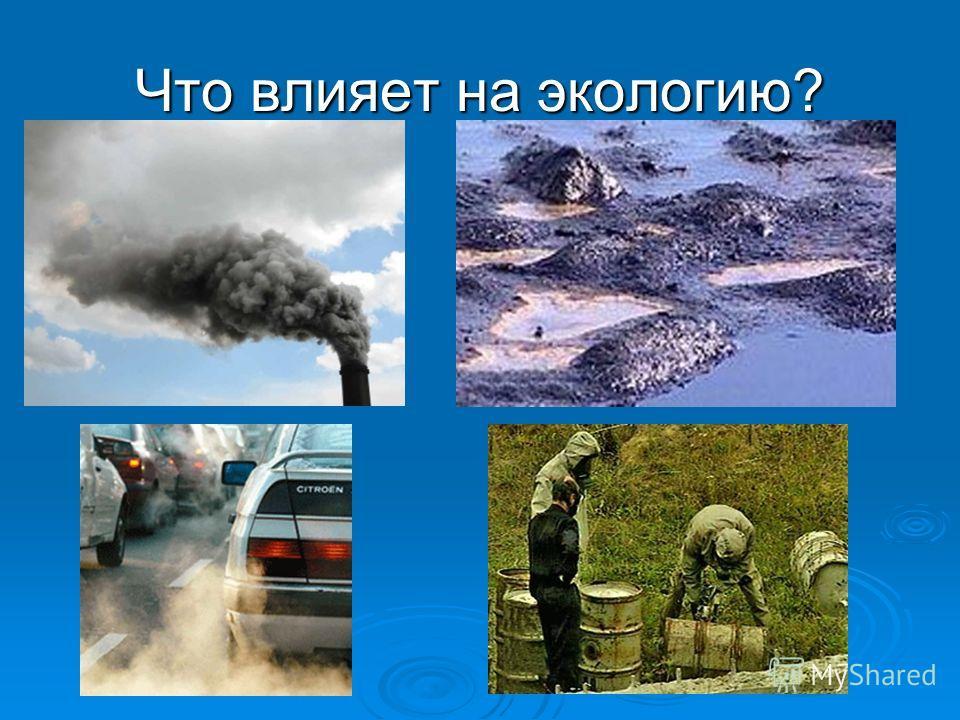Что влияет на экологию?
