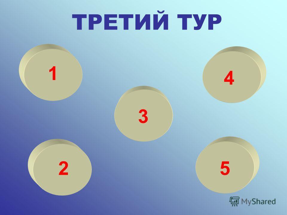 ТРЕТИЙ ТУР 1 2 3 4 5