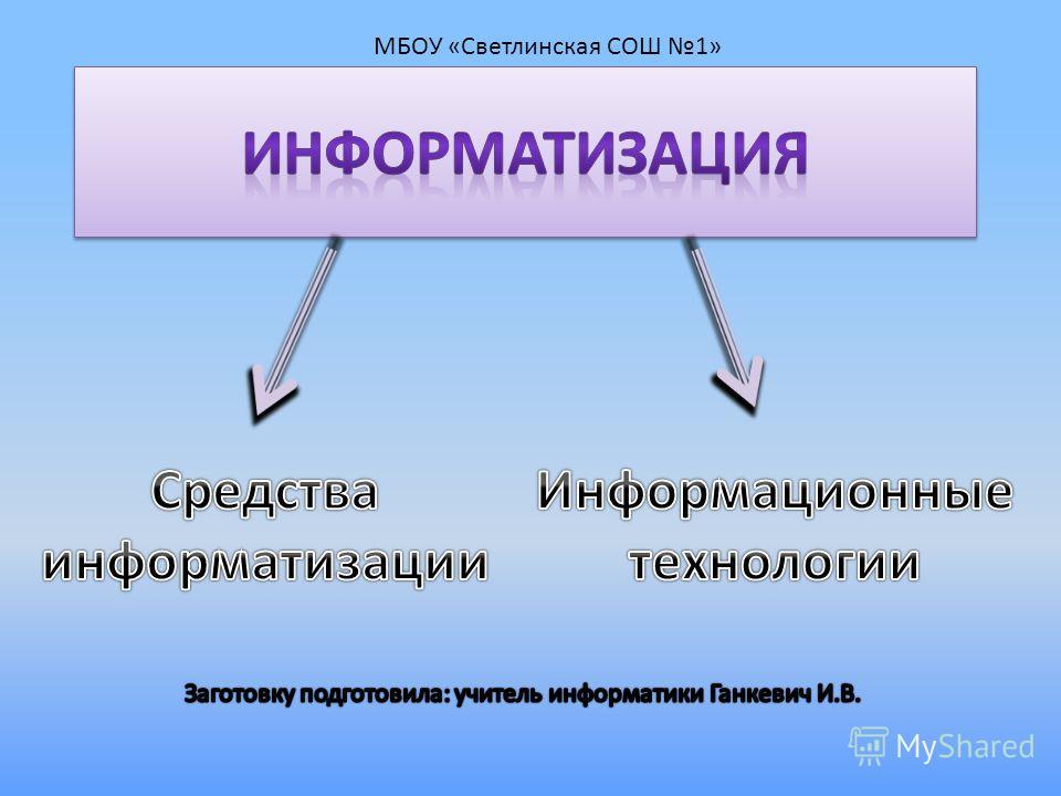 МБОУ «Светлинская СОШ 1»