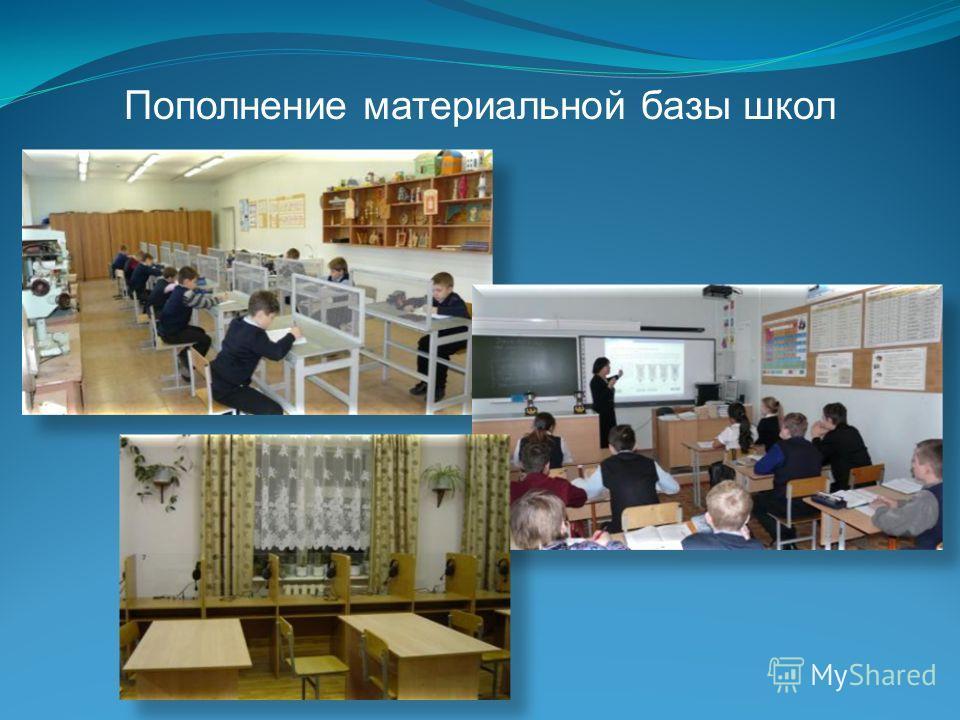 Пополнение материальной базы школ