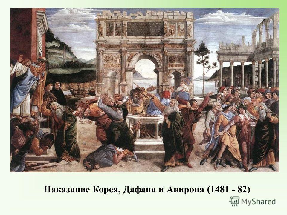 Наказание Корея, Дафана и Авирона (1481 - 82)