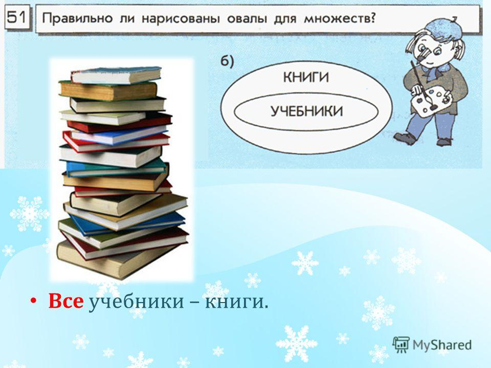Все учебники – книги.