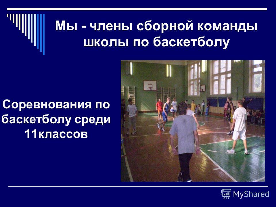 Мы - члены сборной команды школы по баскетболу Соревнования по баскетболу среди 11классов