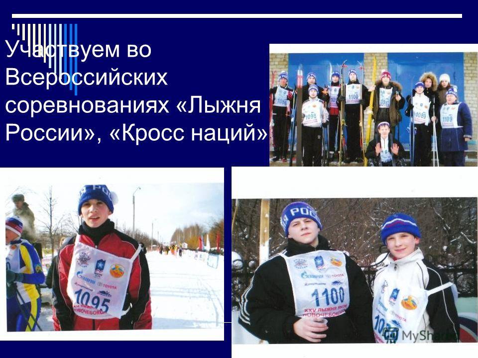 Участвуем во Всероссийских соревнованиях «Лыжня России», «Кросс наций»