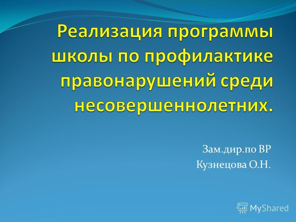 Зам.дир.по ВР Кузнецова О.Н.