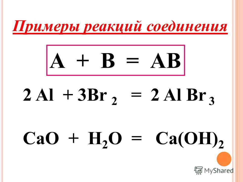 Типы химических реакций. По изменению числа исходных веществ и конечных продуктов реакции делят на: Реакции соединения. Реакции разложения. Реакции замещения. Реакции обмена.
