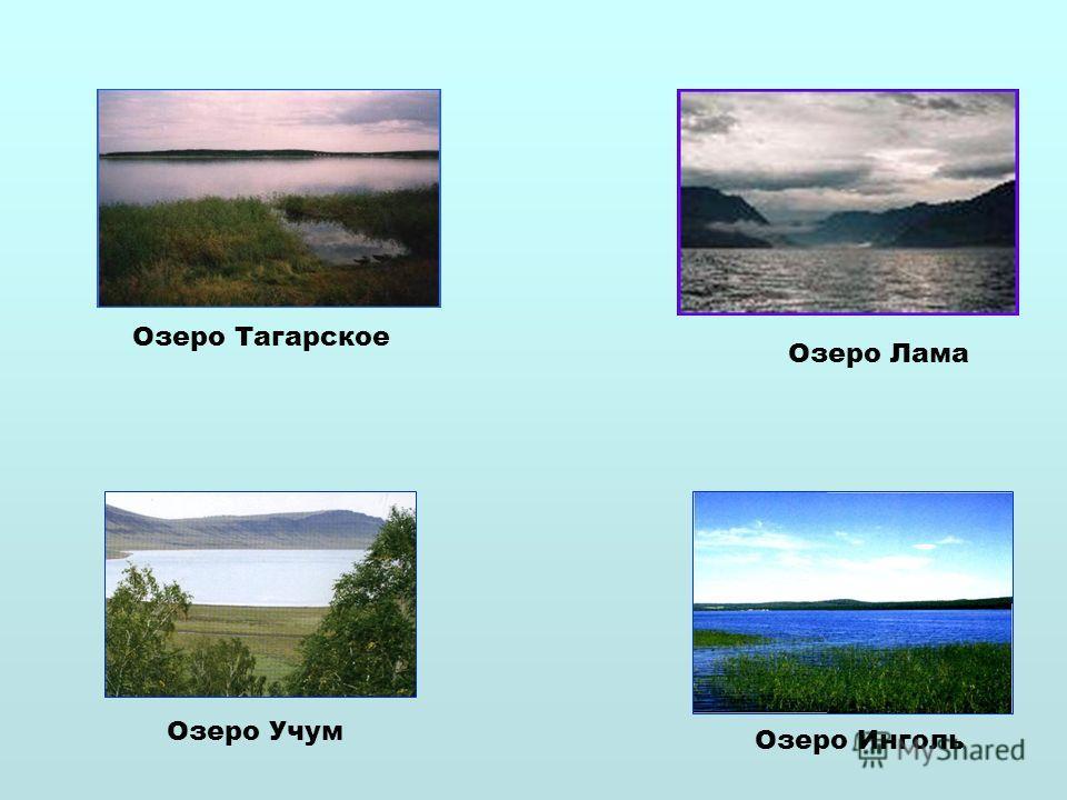 Озеро Учум Озеро Инголь Озеро Тагарское Озеро Лама