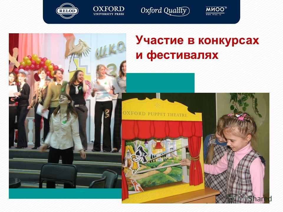 Участие в конкурсах и фестивалях