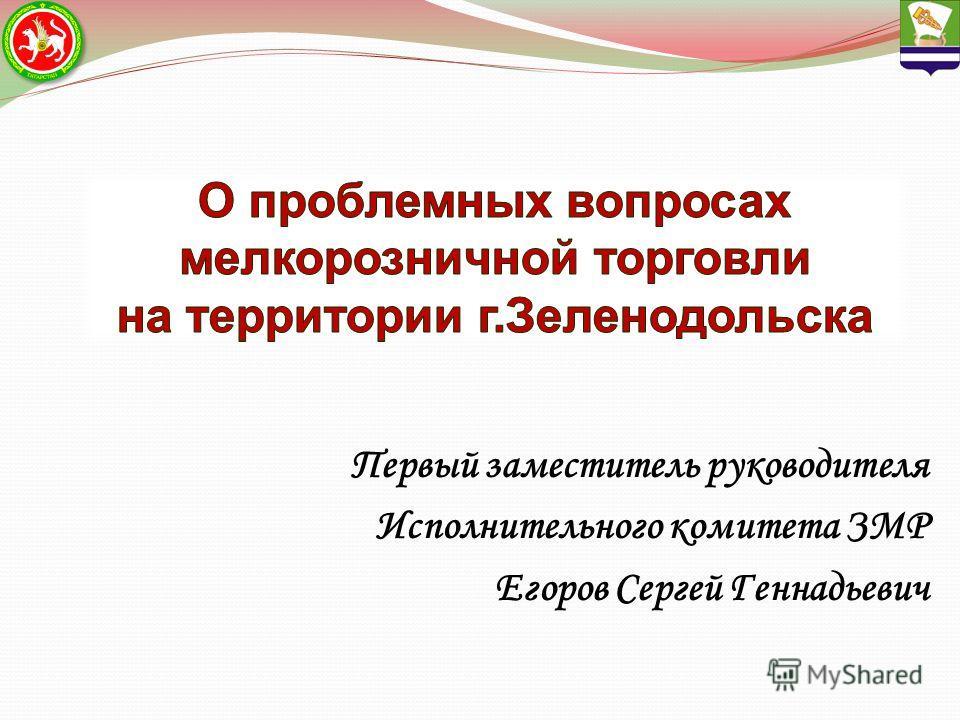 Первый заместитель руководителя Исполнительного комитета ЗМР Егоров Сергей Геннадьевич